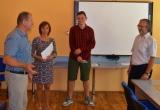 Filip Tkáč získal ocenenie: Najlepší žiak školy v šk.r. 2018/2019