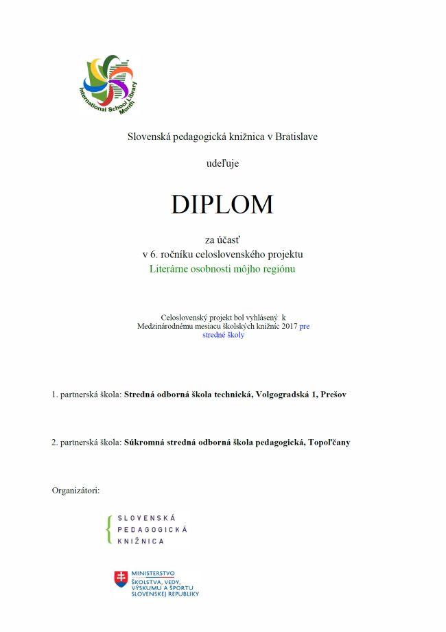Vyhodnotenie projektu LITERÁRNE OSOBNOSTI MÔJHO REGIÓNU cab84384c19